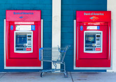 SACRAMENTO, USA - SEPTEMBER 23: Bank of America ATMs on Septembe Stock Photo