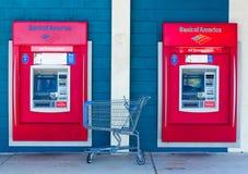 SACRAMENTO, USA - SEPTEMBER 23: Bank of America ATMs on Septembe Stock Photo