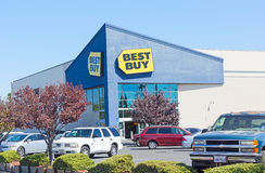 SACRAMENTO USA - SEPTEMBER 19: Best Buy lagrar på September 19, Royaltyfri Bild