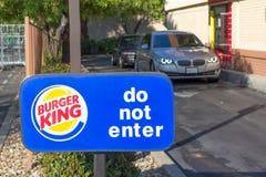 SACRAMENTO, USA - SEPTEMBER 13: Burger King drive through on Sep Stock Photography