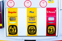 SACRAMENTO, USA - SEPTEMBER 5: High Shell gas price on September Royalty Free Stock Photos