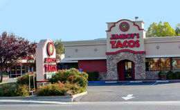 SACRAMENTO USA - SEPTEMBER 13: Jimboys tacoställe på Septembe Arkivfoto