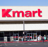 SACRAMENTO, USA - 13. SEPTEMBER: Kmart-Speichereingang auf Septembe Stockfotos