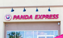 SACRAMENTO USA - SEPTEMBER 13: Panda Express restaurang på Sept Arkivbild