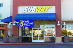 SACRAMENTO, USA - SEPTEMBER 23:  Subway store on September 23, 2 Royalty Free Stock Photos