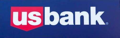 SACRAMENTO, usa - WRZESIEŃ 13: USA banka znak na Wrześniu 13, 20 Obrazy Stock
