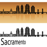 Sacramento V2 skyline in orange Stock Image