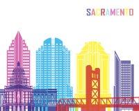 Sacramento_V2 skyline pop Stock Images