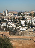 Sacramonte and alhambra view, Granada Royalty Free Stock Photo