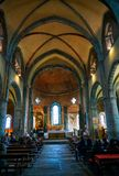 Sacrana di San Michele, kyrkan royaltyfri fotografi