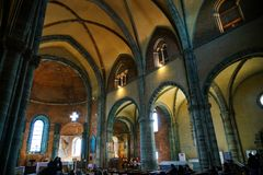Sacrana di San Michele, kyrkan arkivbilder