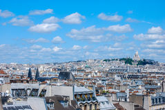 Sacre Coer, Paris. Sacre Coer in cityscape of Paris Stock Image