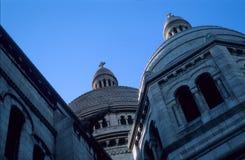 Sacre Coeur圆顶 免版税库存照片