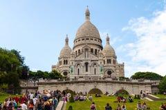 Sacre-Coeur在蒙马特巴黎 库存图片