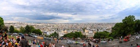 Sacre-Coeur在蒙马特巴黎 图库摄影