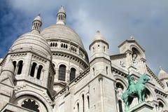 Sacre Coeur大教堂在巴黎,法国 库存图片
