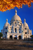Sacre-Coeur大教堂在巴黎 库存图片