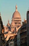 Sacre-Coeur大教堂在蒙马特,巴黎 免版税库存照片
