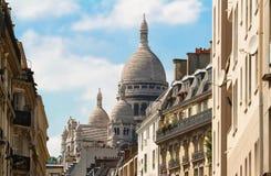 Sacre-Coeur大教堂在蒙马特,巴黎 图库摄影