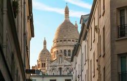 Sacre-Coeur大教堂在蒙马特,巴黎 免版税库存图片