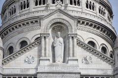 巴黎 Sacre Coeur大教堂在蒙马特 精整细节 免版税库存图片
