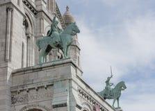 巴黎 Sacre Coeur大教堂在蒙马特 精整细节 免版税库存照片