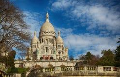 Sacre Coeur大教堂在巴黎 免版税库存照片