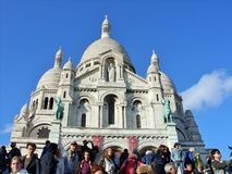 Sacre coeur大教堂在巴黎 库存图片