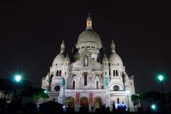 Sacre Coeur大教堂在Montmatre 库存图片