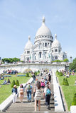 Sacre Coeur大教堂蒙马特 免版税库存照片
