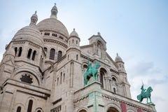 Sacre Coeur大教堂,大中世纪大教堂,巴黎,法国 库存照片