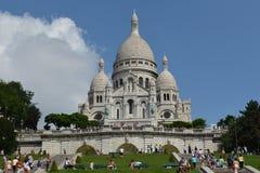Sacre-Coeur大教堂,巴黎法国 图库摄影