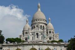Sacre-Coeur大教堂,巴黎法国 库存照片