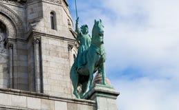 Sacre-Coeur大教堂建筑学细节,蒙马特 巴黎 库存图片