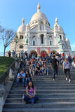 Sacre coeur大教堂-巴黎 免版税库存照片