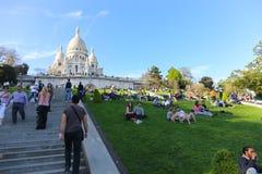 Sacre coeur大教堂-巴黎 库存图片