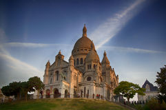 Sacre Coeur大教堂 免版税库存图片
