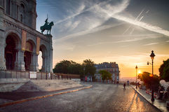 Sacre Coeur广场 库存图片