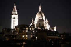 Sacre coeur或巴黎的耶稣圣心的大教堂 库存照片