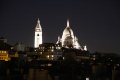 Sacre coeur或巴黎的耶稣圣心的大教堂 图库摄影