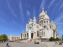 Sacre Coeur教会在巴黎,法国 库存照片