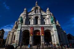 Sacre Coeur教会大教堂在巴黎 库存照片