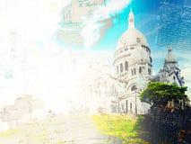 Sacre Coeur教会,巴黎 库存图片