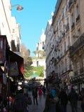 Sacre coeur看法从Steinkerque街道的 库存照片