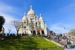 Sacre Coeur罗马天主教堂在巴黎 免版税库存图片