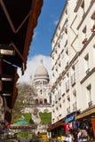 Sacre Coeur,著名教会旅游业地标在巴黎法国 图库摄影