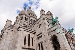 Sacre Coeur,著名教会旅游业地标在巴黎法国 库存照片