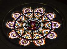 Sacre Coeur,巴黎圆花窗  免版税库存图片