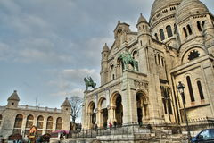 Sacre Coeur,巴黎大教堂 免版税图库摄影