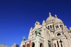 Sacre Coeur в Париже, Франции, 15-ое ноября 2015 Стоковое Изображение